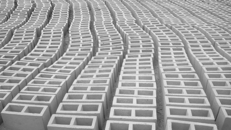 Large Group Of Concrete Blocks
