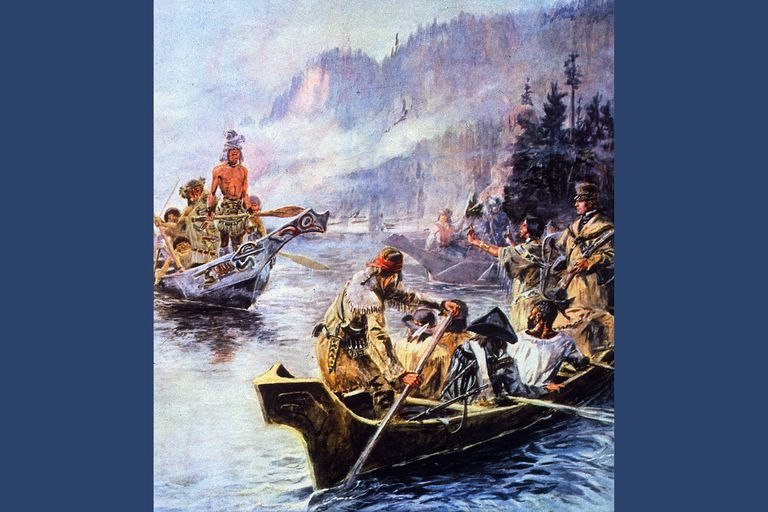 1805: Sacajawea interprets Lewis and Clark's intentions to the Chinook Indians