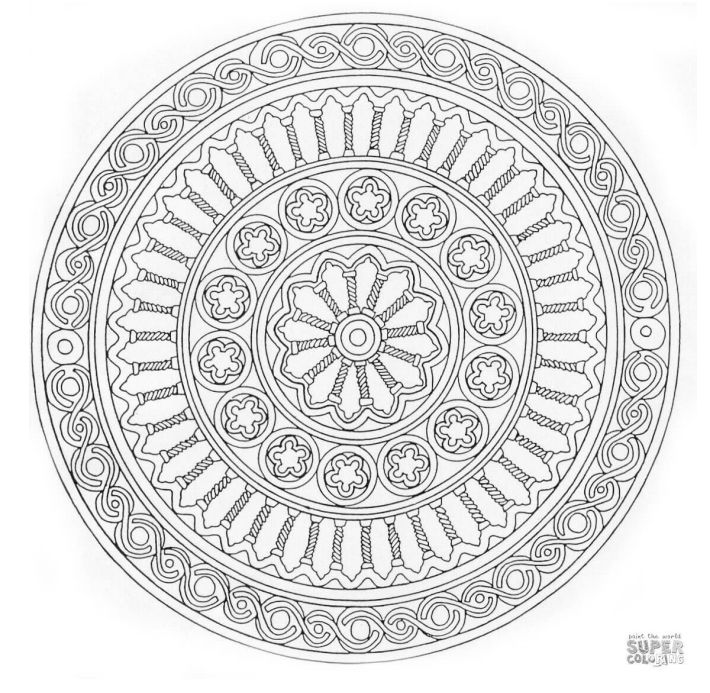 a free mandala coloring page - Advanced Mandala Coloring Pages