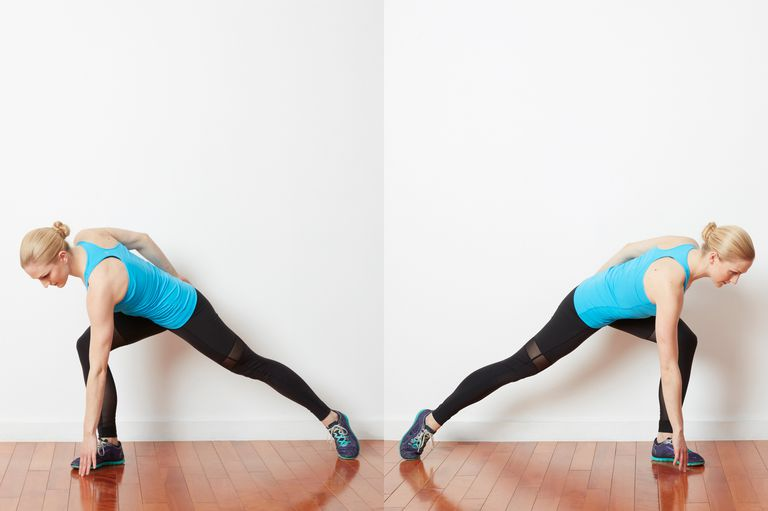 Side to side jumping lunge