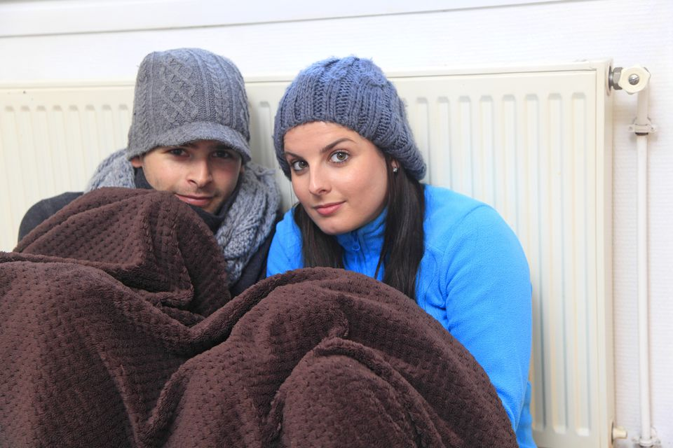 Young couple dressed warmly