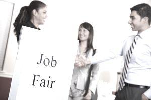 Introductions at the job fair