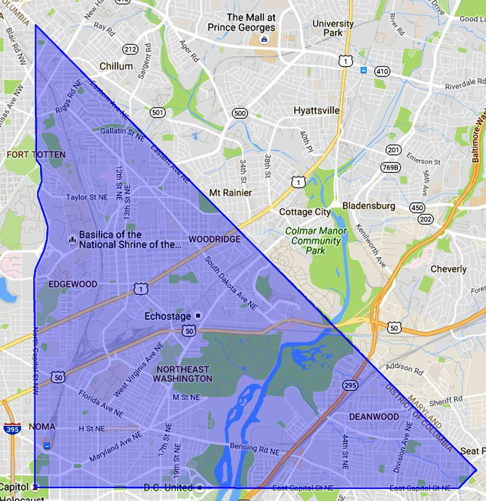 NE Washington DC A Map And Neighborhood Guide - Ne map