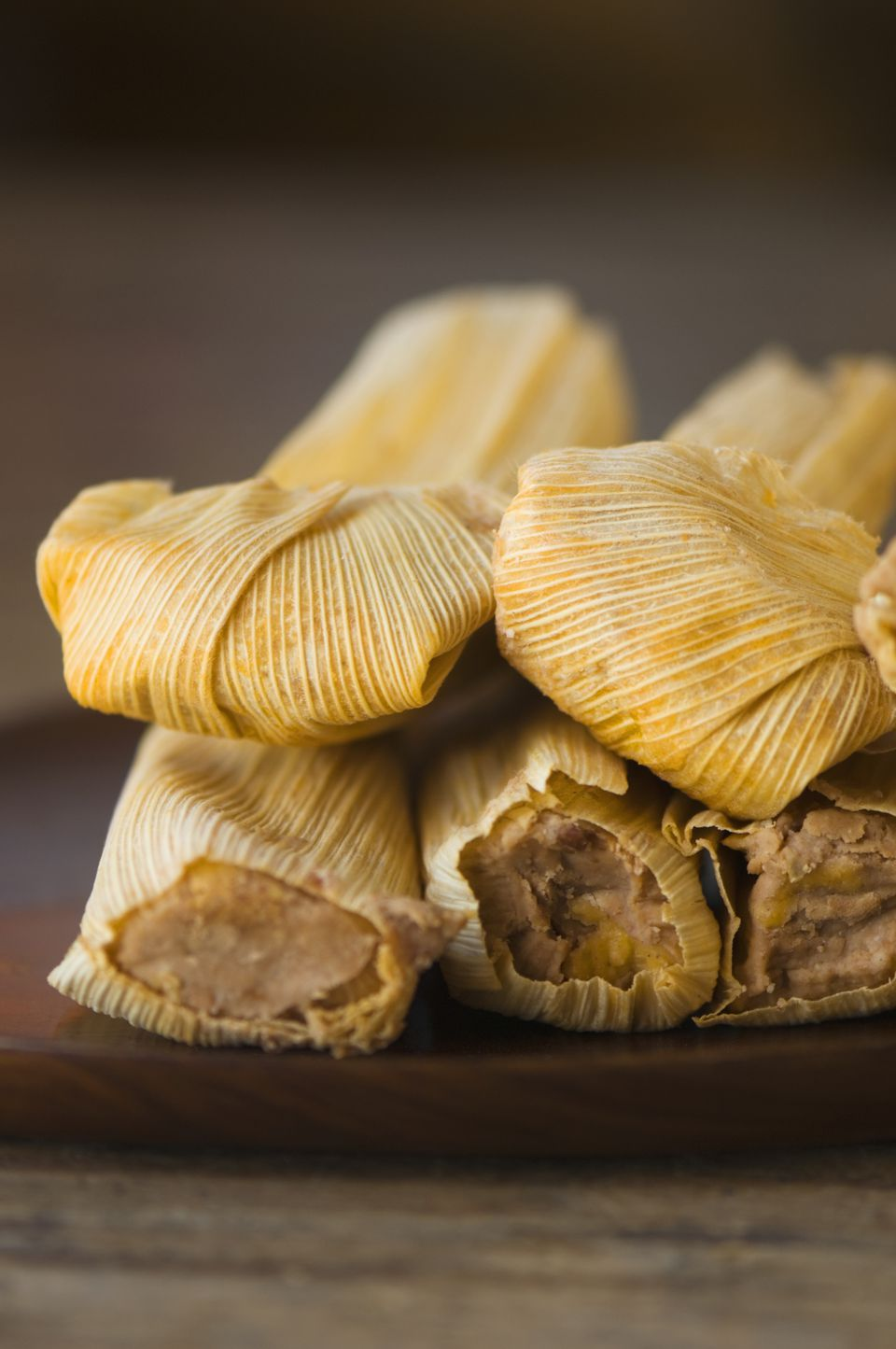 Close up of organic tamales