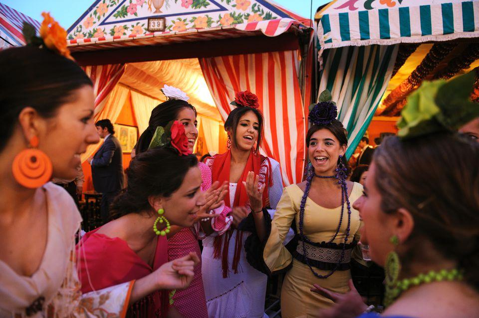 'Feria De Abril' Fiesta In Seville