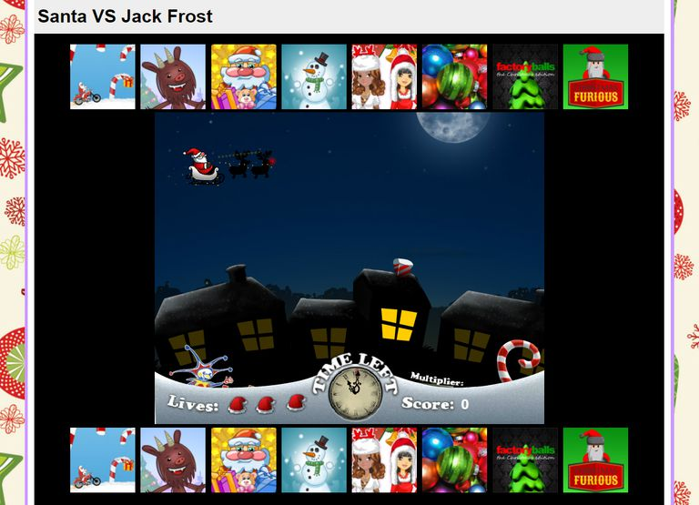 A screenshot of the game Santa Vs. Jack.