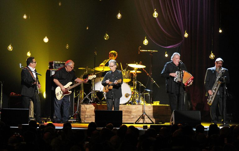 Los Lobos perform onstage during the 2015 MusiCares Person of The Year