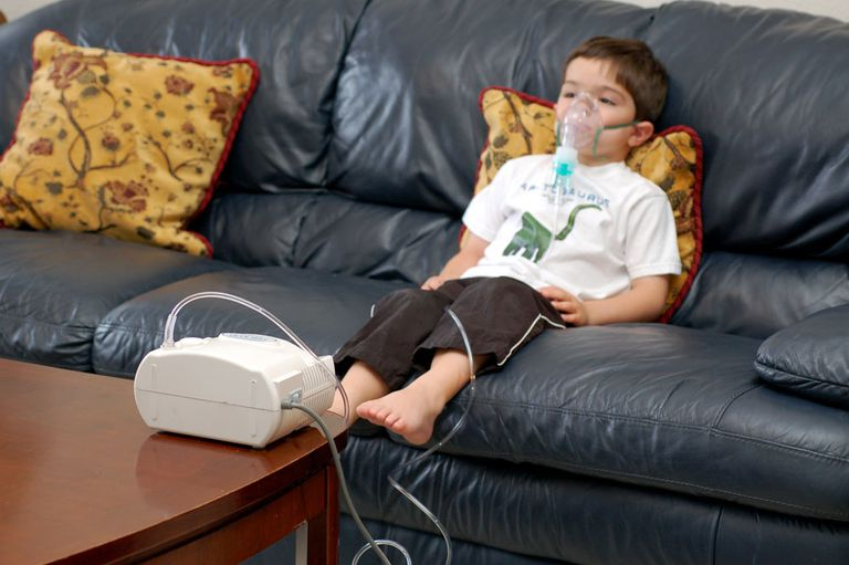 A Child Getting a Nebulizer Treatment
