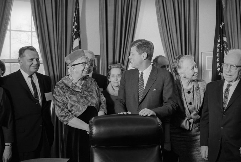 John Kennedy Standing with Others