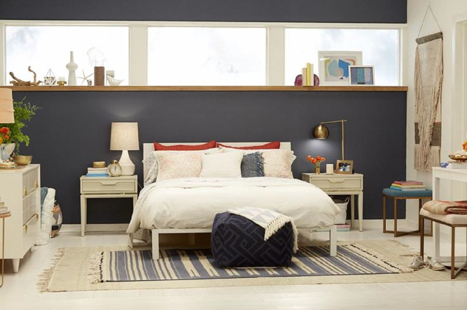 modern ideas midcentury bedroom attractive century with artwork rug mid industrial bed area