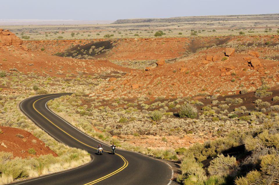 USA, Arizona, People riding their motorcycles
