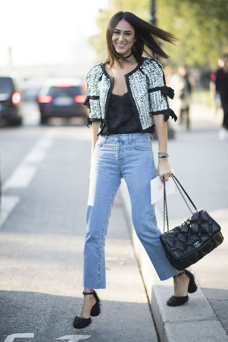 Street style jeans outfit