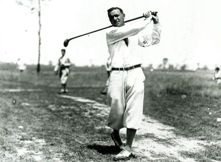 Golfer Leo Diegel on a Cleveland course in 1927