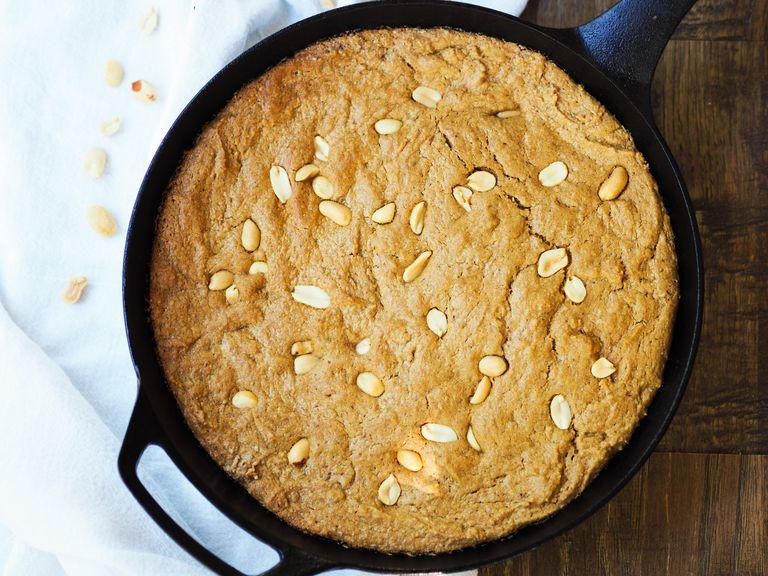 Skillet Peanut Butter Cinnamon Spice Cookie