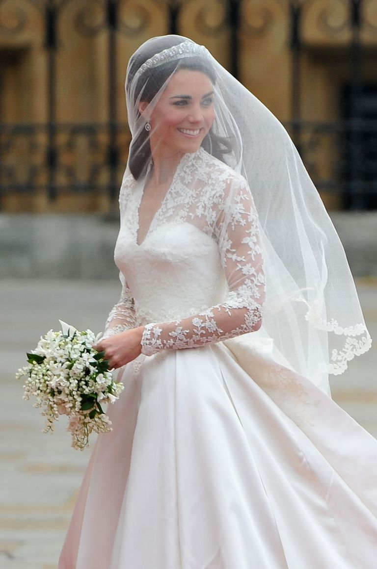 Kate Middleton on her wedding day, April 29, 2011, in London.