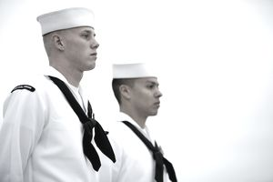 Color Guards on the USS Carl Vinson