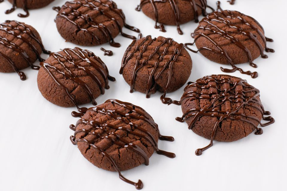 Chocolate Cookies With Glaze