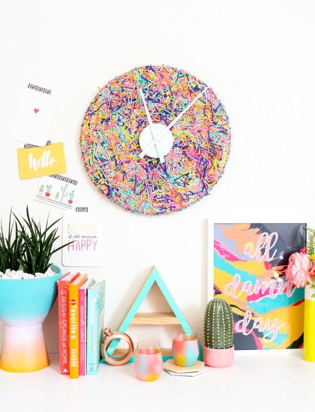 DIY Confetti Wall Clock