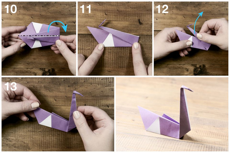 easy origami swan tutorial