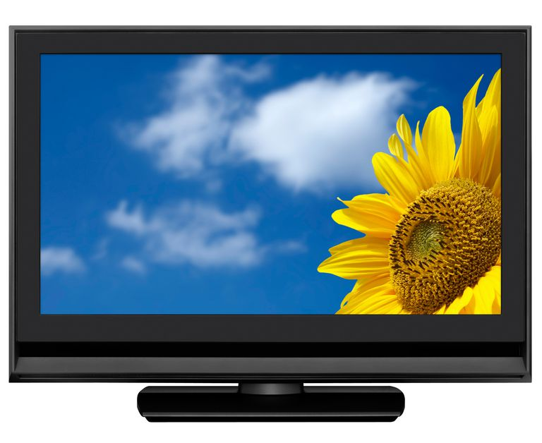 HD LCD TV, clipping path, isolated on white