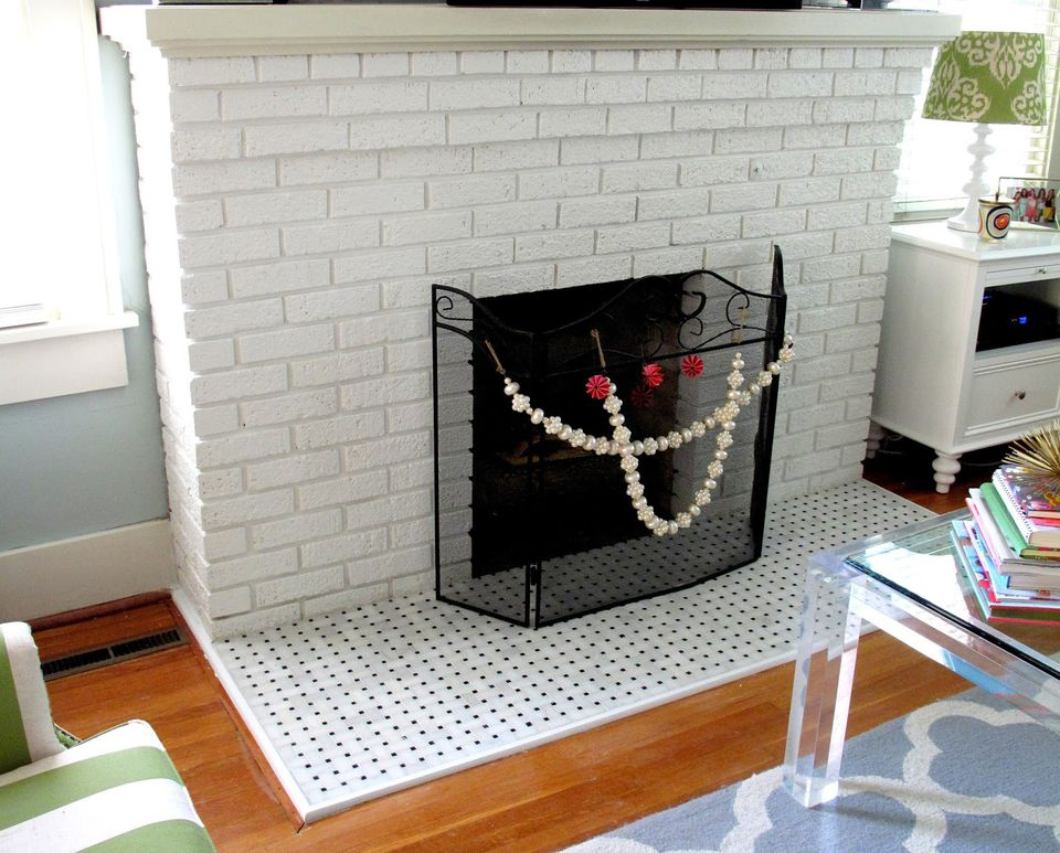 25 beautifully tiled fireplaces - Covering brick fireplace with tile ...