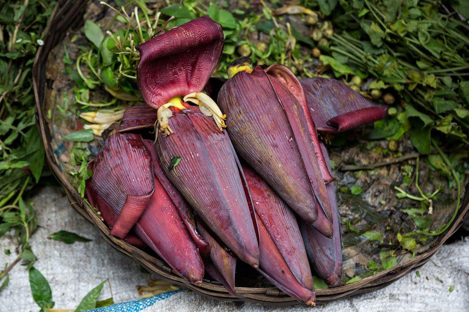 Edible Banana Blossoms at Farmers Market