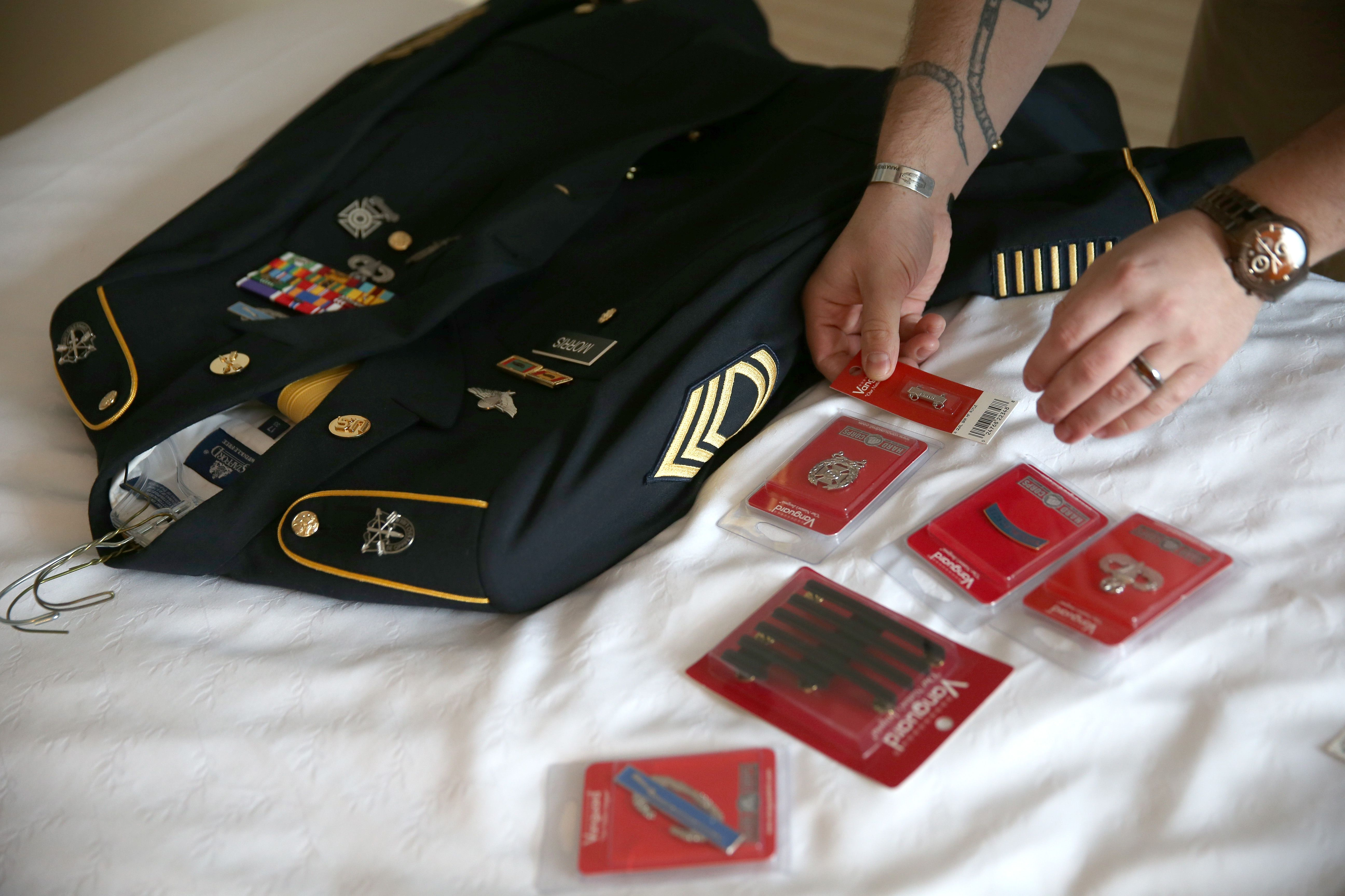 how to preserve and store military uniforms. Black Bedroom Furniture Sets. Home Design Ideas