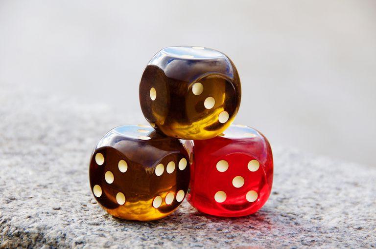 Close-Up Of Dices On Street