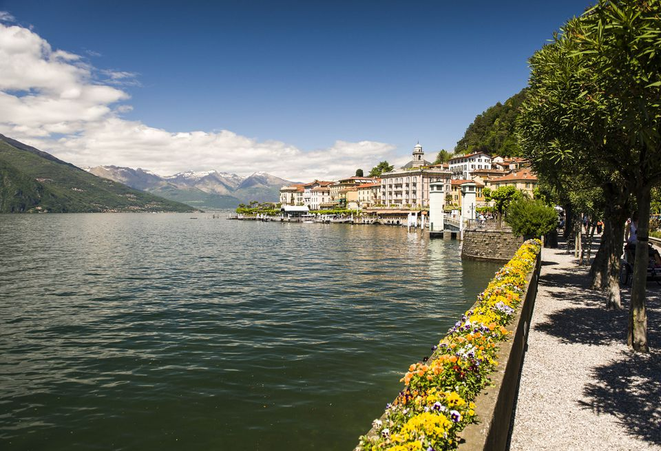 View of Bellagio from lakeside. Lake Como, Lombardy, Italy