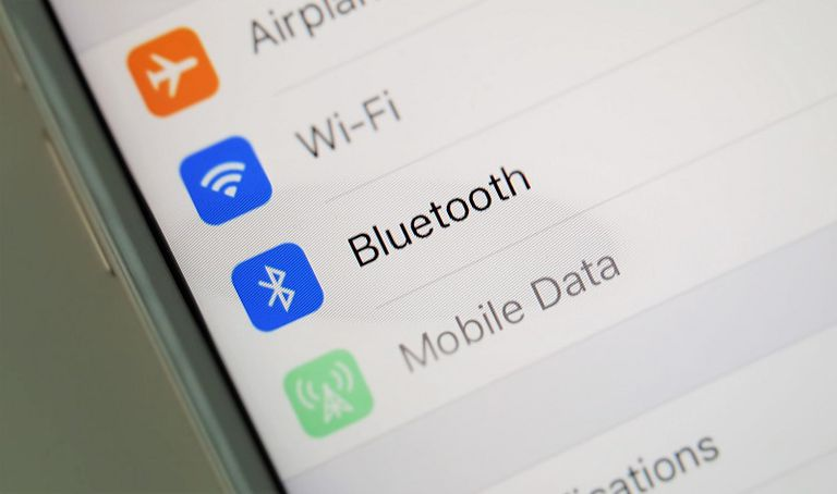 The iPhone's Bluetooth setting.