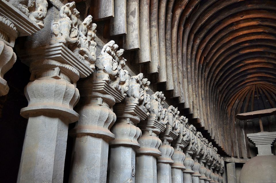 Inside the Karla Caves.