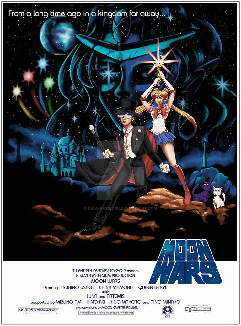A Magical Sailor Moon and Star Wars Mashup