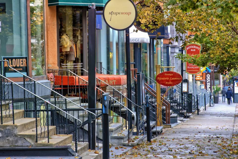 A quaint neighborhood street in Montreal