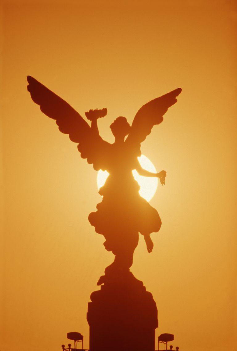 archangel statue sun