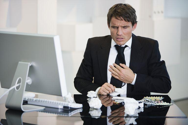Businessman feeling sick