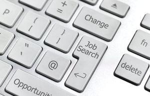 On-line job search computer keyboard