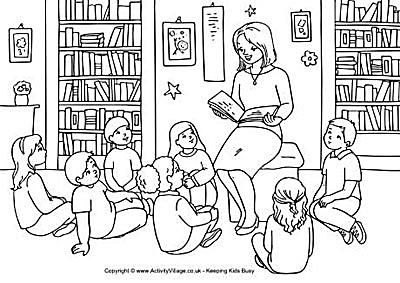 activity villages free back to school coloring pages - Coloring Pages School