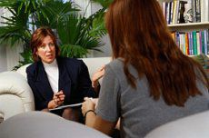 Models pose as a CBT therapist and client