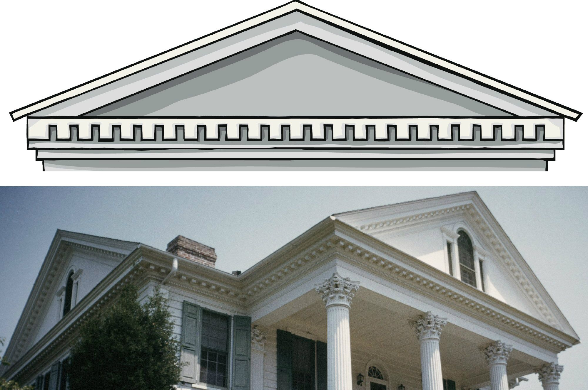 ionic columns and dentil - photo #20