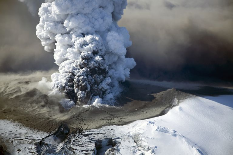 Icelandic volcano in eruption