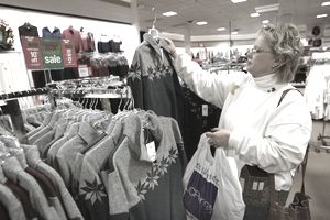 A woman shopping at JC Penney