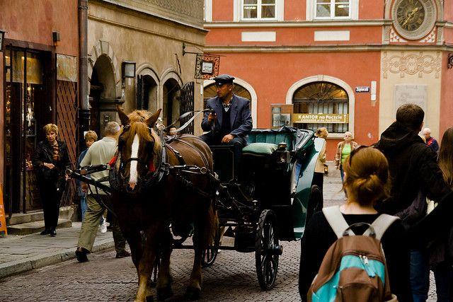 Horse Drawn Carriage, Warsaw