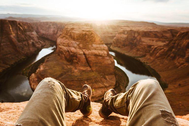Man atop canyon
