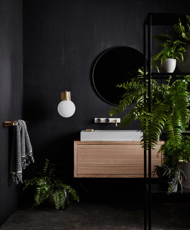 17 Beautiful Black Bathrooms