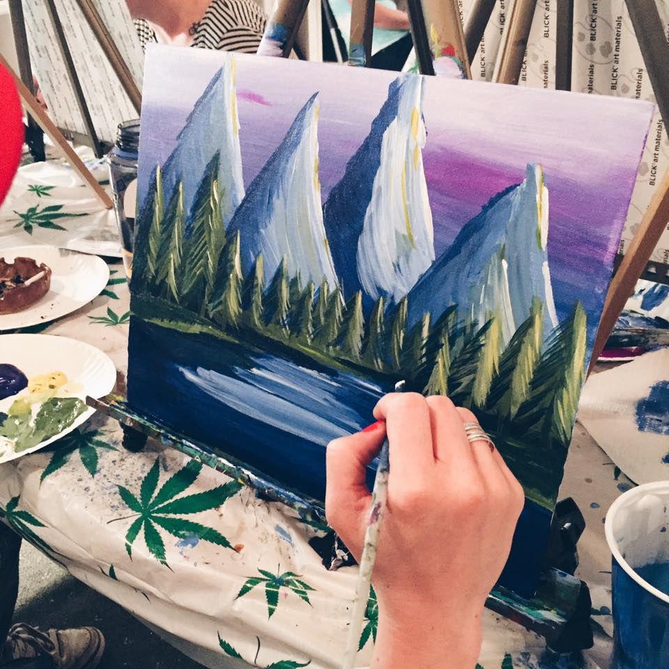 Marijuana painting class