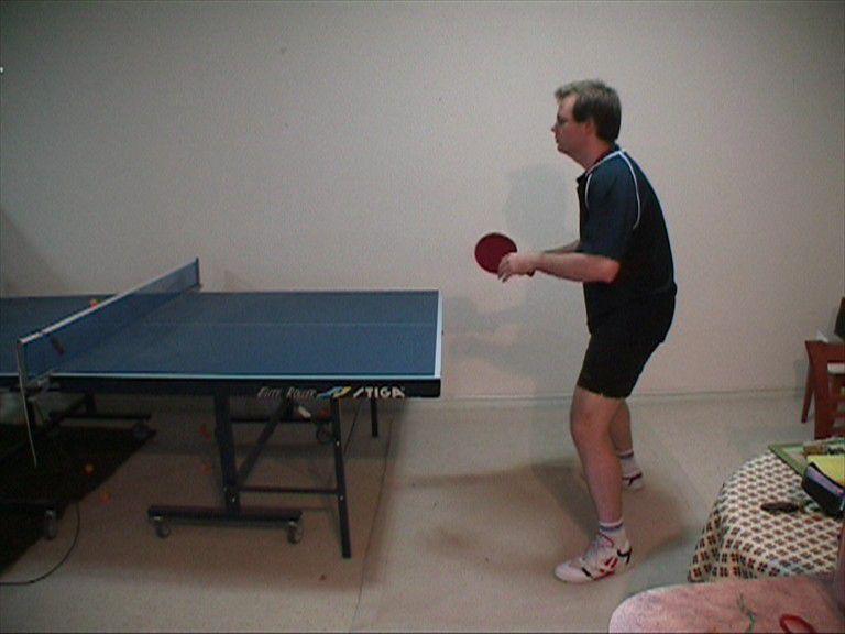Photo of Backhand Push - Ready Position