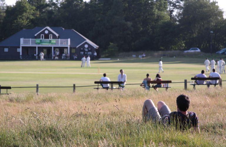 A cricket spectator at a regional ground