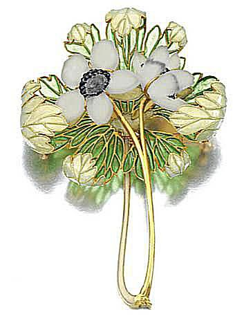 Sotheby's anemone brooch by Rene Lalique