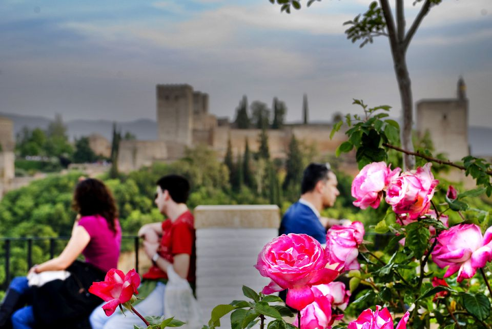 Enjoying the Alhambra in Granada