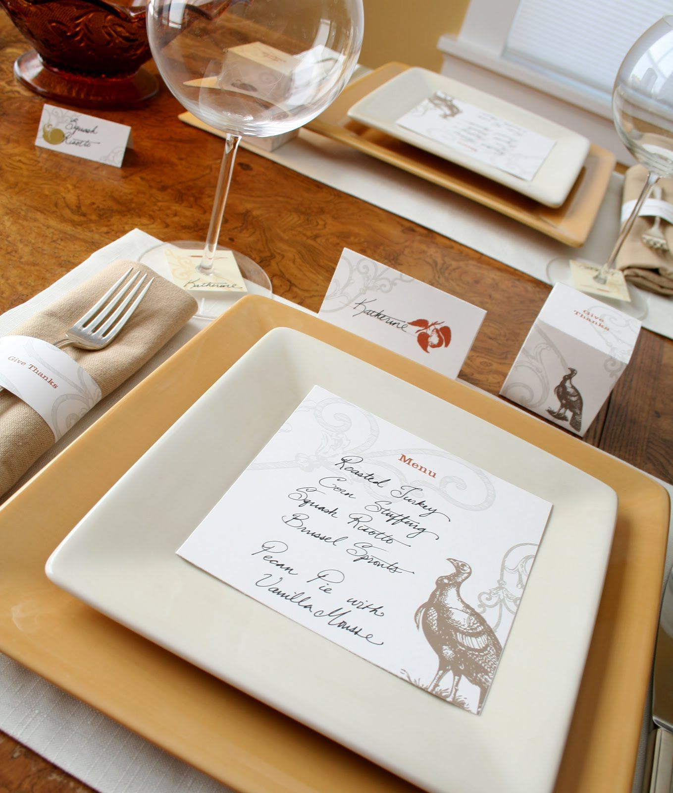 Free Printable Thanksgiving Table Decorations